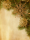 Christmas border beige paper background with Stock Image