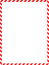 Christmas Border / candy cane Royalty Free Stock Photo