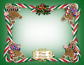 Christmas Border Cookies and Candy Stock Image