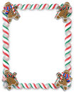 Christmas Border Cookies and Candy Stock Photography