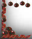 Christmas Border decorations Ribbons Royalty Free Stock Photo