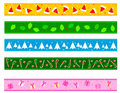 Christmas Border / divider Stock Photo