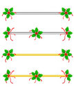 Christmas Border/ divider Royalty Free Stock Image