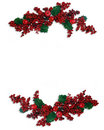 Christmas Border Holly berry Royalty Free Stock Images