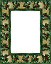 Christmas Border Holly and ribbon photo frame Royalty Free Stock Images