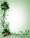 Christmas Border Holly and ribbons Royalty Free Stock Photo