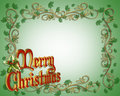 Christmas Border Illustration 3D Stock Photos