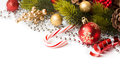 Christmas border with ornament Royalty Free Stock Photo