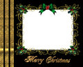 Christmas border photo frame elegant Stock Images
