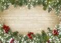 Christmas Border With Poinsett...
