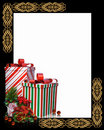 Christmas Border presents Frame Royalty Free Stock Images