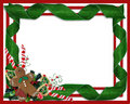 Christmas border ribbons and treats Stock Image