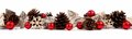 Christmas Border With Rustic W...