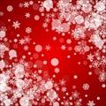 Christmas border with white snowflakes