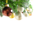 Christmas border with Xmas tree Royalty Free Stock Photos