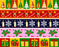 Christmas Borders Set [1] Royalty Free Stock Photo
