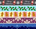 Christmas Borders Set [4] Royalty Free Stock Photo