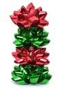 Christmas Bows Royalty Free Stock Photo