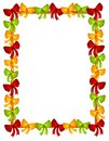 Christmas Bows Ribbons Frame Royalty Free Stock Images