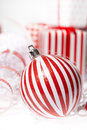 Christmas Box with bauble. Stock Photography