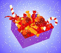 Christmas box with candies Royalty Free Stock Image