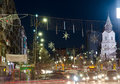 Christmas in bucharest center of unirii square december Stock Photography