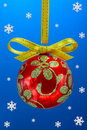 Christmas bulb with snoweflakes Royalty Free Stock Photos