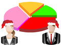 Christmas Business Chart and Avatars Illustration Royalty Free Stock Photography