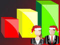 Christmas Business Chart and Avatars Illustration Royalty Free Stock Image