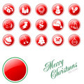 Christmas buttons. Stock Photo