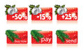 Christmas buttons for your website Stock Images