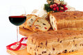 Christmas cake. Panettone. Royalty Free Stock Photos