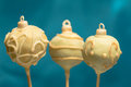 Christmas cake pops Royalty Free Stock Image
