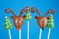 Christmas cake pops Royalty Free Stock Photo