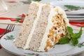 Christmas Cake Slice Royalty Free Stock Photo