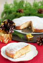 Christmas cake table setting and decorations Stock Image