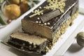 Christmas cakes buches de noel frozen chocolate cake caramel Royalty Free Stock Images