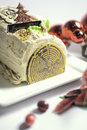 Christmas cakes buches de noel sweet stock photograph Royalty Free Stock Images