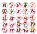 Christmas calendar Royalty Free Stock Images
