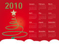 Christmas Calendar 2010 Royalty Free Stock Photo