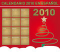 Christmas Calendar 2010 in Spanish Royalty Free Stock Images