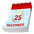 Christmas calendar on a white background illustration Stock Photography