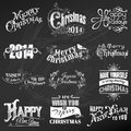 Christmas calligraphic design elements vector set and page decoration vintage frames Stock Photo