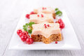 Christmas canape close up on Royalty Free Stock Photo