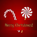 Christmas candies vector xmas background with Stock Photography