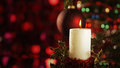 Christmas candle Stock Photography