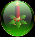 Christmas, Candle, Background, Holidays Stock Photography