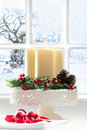 Christmas Candle Decoration Stock Photo