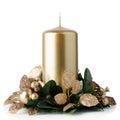 Christmas candle decoration Royalty Free Stock Photo