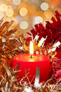 Christmas Candle Light Royalty Free Stock Photography